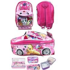 BGC Tas Ransel Sekolah Anak TK Tas Mobil On The Road My Little Pony + Lunch