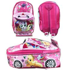 BGC Tas Ransel Sekolah Anak TK Tas Mobil On The Road My Little Pony - Pink