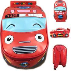 BGC Tas Ransel Sekolah Anak TK Tas Mobil On The Road Tayo Tayo 2 - Merah