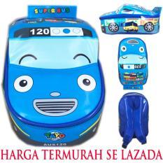 BGC Tas Ransel Sekolah Anak TK Tas Mobil On The Road Tayo Tayo Bus - Blue