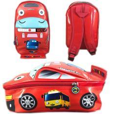 BGC Tas Ransel Sekolah Anak TK Tas Mobil On The Road Tayo Tayo - Merah