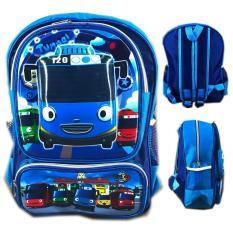 BGC Tas Ransel Sekolah Anak TK Tayo Biru 3D Timbul Hard Cover - Blue