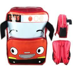 Bgc Tas Ransel Sekolah Anak Tk Tayo Tayo 3D Kepala Bus Merah Bgc Diskon
