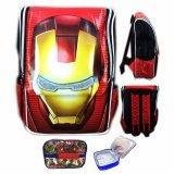 Jual Beli Bgc Tas Ranselsekolah Anak Tk Iron Man Muka3D Timbul Lunch Bag Aluminium Tahan Panas Full Motif Avenger Banten