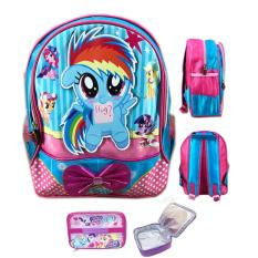 Jual Bgc Tas Ranselsekolah Anak Tk My Little Pony Rainbow Dash Say Hi Lunch Bag Aluminium Tahan Panas Blue Pink Bgc Murah