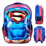 Jual Bgc Tas Ranselsekolah Anak Sd Superman Otot 3D Timbul Blue Red Bgc Online