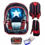 Jual Cepat Bgc Tas Ranselsekolah Anak Tk Captain America Otot Lunch Bag Aluminium Tahan Panas Full Sateen