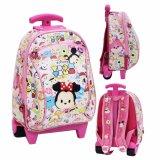 Beli Bgc Tas Troley Sekolah Anak Pg Tsum Tsum Mickey Minnie Mouse Full Motif Tsum Tsum Pink Online