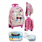 Beli Bgc Tas Troley Sekolah Anak Pg Tsum Tsum Mickey Minnie Mouse Lunch Bag Aluminium Tahan Panas Full Motif Tsum Tsum Lengkap