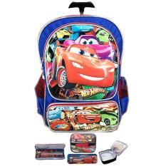 Jual Bgc Tas Troley Sekolah Anak Tk Cars 3D Timbul Hard Cover Lunch Bag Aluminium Tahan Panas Kotak Pensil Alat Tulis Blue Red Antik