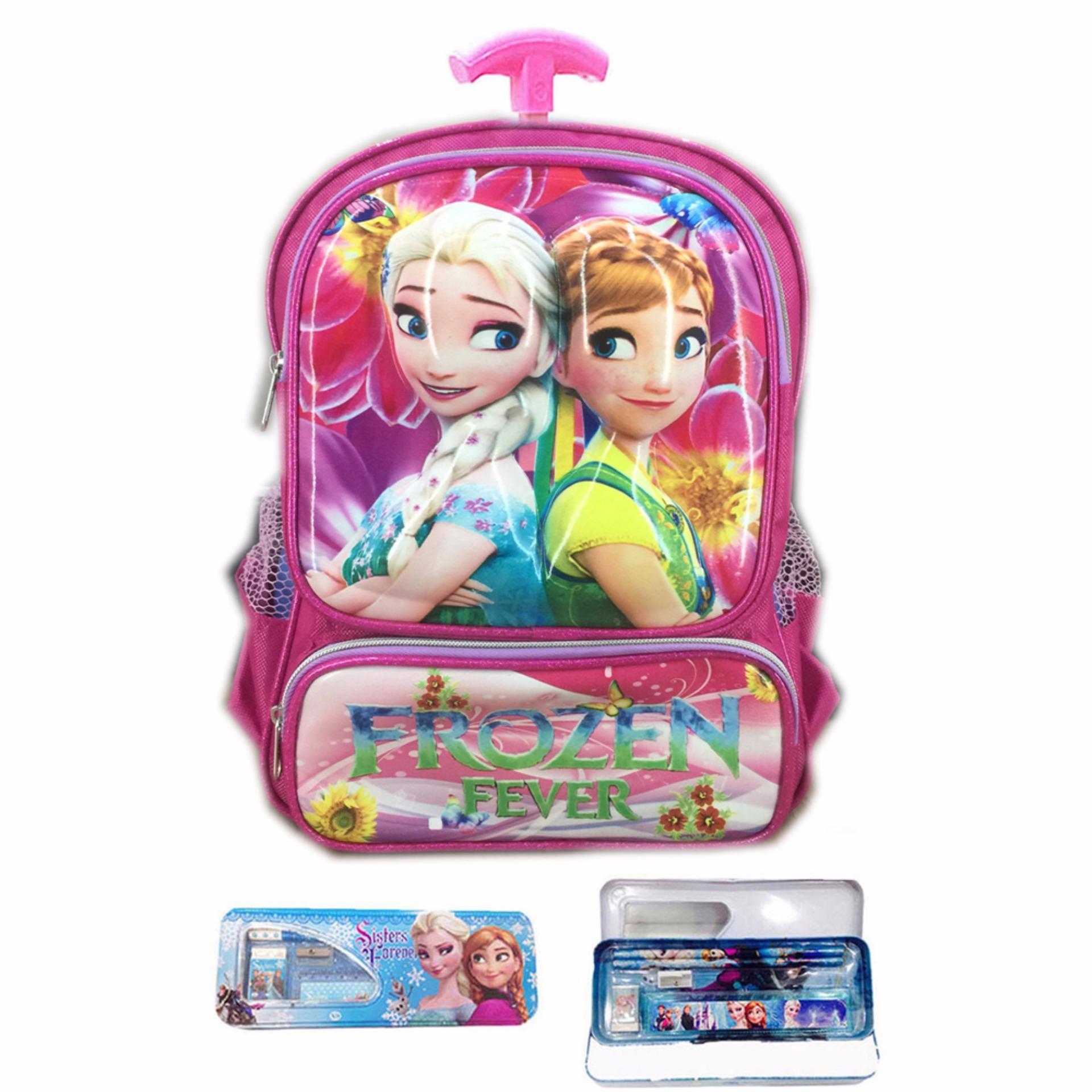 ... Kuat dan bahan nya IMPORT BGC Tas Troley Sekolah Anak TK Frozen Fever 3D Timbul Hard