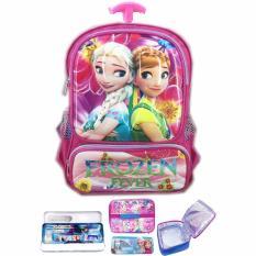 Beli Bgc Tas Troley Sekolah Anak Tk Frozen Fever 3D Timbul Hard Cover Lunch Bag Aluminium Tahan Panas Kotak Pensil Alat Tulis Murah Di Banten