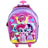 Review Bgc Tas Troley Sekolah Anak Tk My Little Pony 3D Timbul Full Motif Pony Bgc
