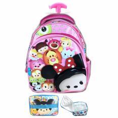 Beli Bgc Tas Troley Sekolah Anak Tk Tsum Tsum Minnie Pinky 3D Timbul Lunch Bag Aluminium Tahan Panas Pink Full Motif Seken