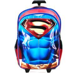 Beli Bgc Tas Troleysekolah Anak Sd Superman Otot 3D Timbul Blue Red Bgc Murah