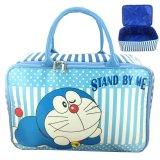 Jual Beli Bgc Travel Bag Kanvas Doraemon Stand By Me Blue White Baru Banten
