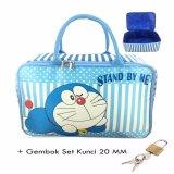 Harga Bgc Travel Bag Kanvas Doraemon Stand By Me Gembok Set Kunci 20Mm Blue White Asli