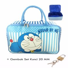 Ulasan Mengenai Bgc Travel Bag Kanvas Doraemon Stand By Me Gembok Set Kunci 20Mm Blue White