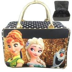 Beli Bgc Travel Bag Kanvas Frozen Elsa Anna Olaf Gold Star Black Gold Cicil