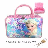 Spesifikasi Bgc Travel Bag Kanvas Frozen Elsa Full Motif Sakura Set Gembok Kunci 20Mm Dan Harga