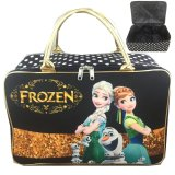 Toko Bgc Travel Bag Kanvas Frozen Fever Elsa Anna Olaf Black Gold Termurah