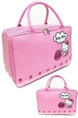BGC Travel Bag Kanvas Hello Kitty 2 Sisi Bahan Halus Lembut Pinky Baby