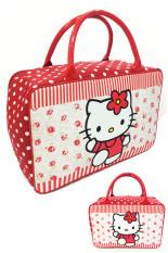 Diskon Bgc Travel Bag Kanvas Hello Kitty Bahan Halus Lembut Full Flower Polkadot Banten