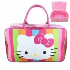BGC Travel Bag Kanvas Hello Kitty Full Face - Rainbow