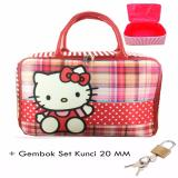 Bgc Travel Bag Kanvas Hello Kitty Kotak Kotak Gembok Set Kunci 20Mm Original