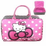 Jual Bgc Travel Bag Kanvas Hello Kitty Ribbon Black Red Bgc