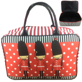 Spek Bgc Travel Bag Kanvas London Prajurit Black Red Bgc