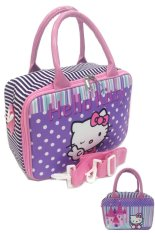 BGC Travel Bag Kanvas Mini 2 Sisi Hello Kitty Peace + Selempang