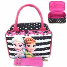 Toko Bgc Travel Bag Kanvas Mini Selempang Frozen Fever Black Strip 2 Lengkap