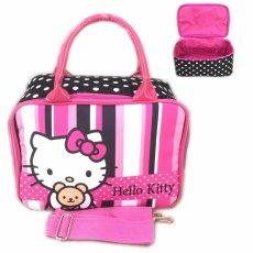 BGC Travel Bag Kanvas Mini + Selempang Hello Kitty Strip