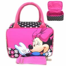 Bgc Travel Bag Kanvas Mini Selempang Minnie Mouse Black Pink Bgc Murah Di Banten