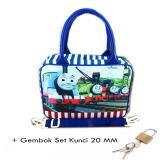 Spesifikasi Bgc Travel Bag Kanvas Mini Selempang Thomas And Friends Set Gembok Kunci 20Mm Blue White Bagus