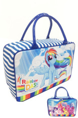 Jual Bgc Travel Bag Kanvas My Little Pony 2 Sisi Bahan Halus Lembut Rainbow Dash And Friends Murah Di Banten