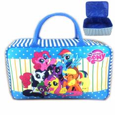 Model Bgc Travel Bag Kanvas My Little Pony Rainbow Dash And Friends New Blue White Terbaru