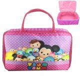 Spesifikasi Bgc Travel Bag Kanvas Tsum Tsum Mickey Minnie And Friends Polkadot Purple Pink Paling Bagus