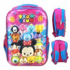 Beli Bgc Tsum Tsum Mickey Minnie And Friends3D Timbul Hard Cover Tas Ransel Sekolah Anak Sd Pink Blue Dengan Kartu Kredit