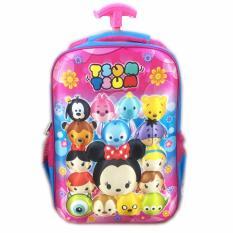 BGC Tsum Tsum Mickey Minnie And Friends3D Timbul Hard Cover Tas Troley Sekolah Anak SD -
