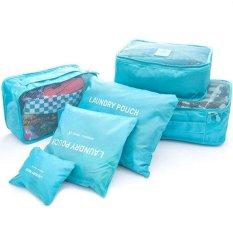 Bib 1 Set 6Pcs Bag In Bag Biru Muda Bib Diskon 50