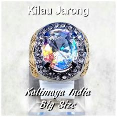 BIG SIZE !!! CINCIN BATU AKIK PERMATA KALIMAYA INDIA CUTING FULL JARONG KILAU MEMPESONA