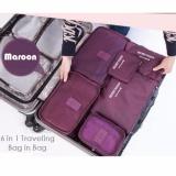Jual Big Size Travel Bag Organizer 6 In 1 Tas Dalam Koper Maroon Prime Asli