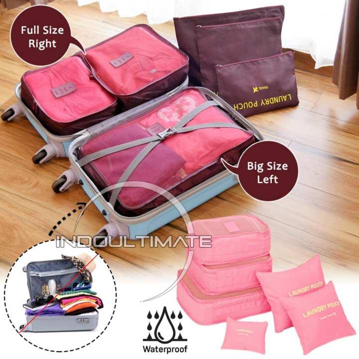 Big Size Waterproof Travel Bag 6in1 Organizer 60 01