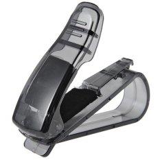 Bigskyie Mobil Matahari Kacamata Klep Kacamata Hitam Menerima Tiket Klip Pemegang Peta Penyimpanan Hitam Gratis Pengiriman