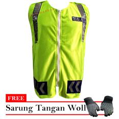 Beli Bikers Rompi Neon Free Sarung Tangan Hijau Bikers Murah