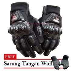 Bikers Sarung Tangan Mad bike - Hitam + Free Sarung Tangan Woll