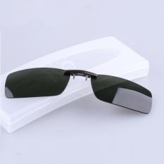 BIKIGHT Polarized Clip On Sunglasses Men Driving Night Vision Lens Sun Glasses Male Anti-UVA UVB