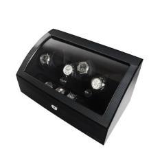 Cara Beli Billstone Luxurious Safes Avanti Plus 3 Watch Winder Carbon Fiber Hitam